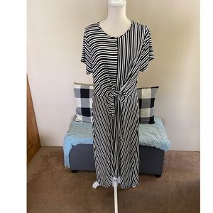 Lane Bryant Striped Tie Front Dress Size 14/16